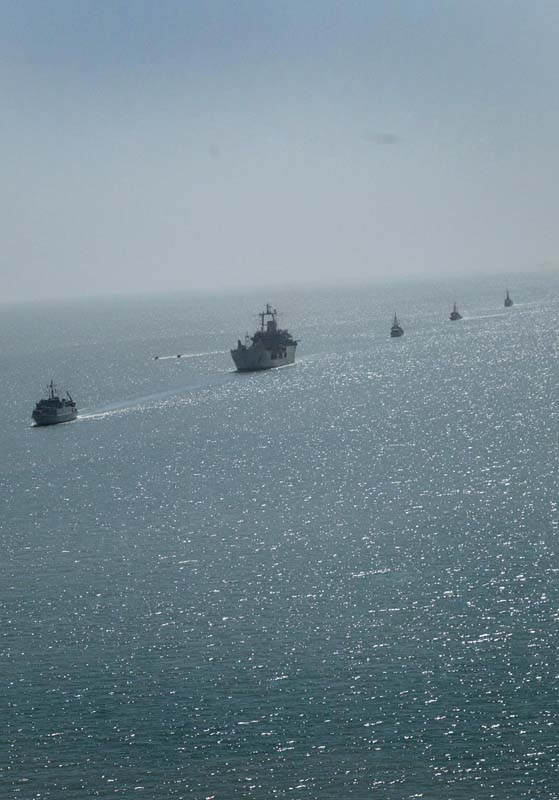 Ships coming into Umm Qasr